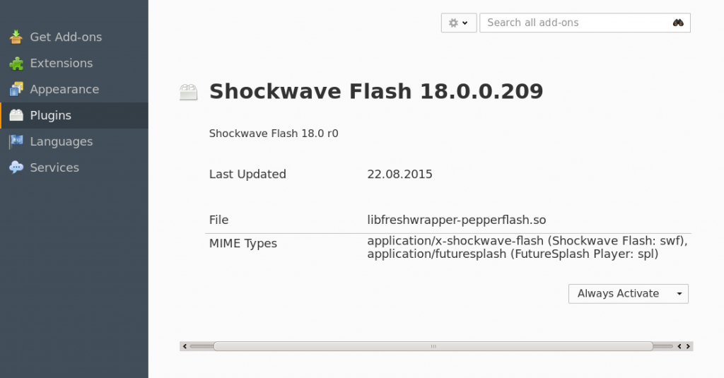 plugin shockwave flash funktioniert nicht
