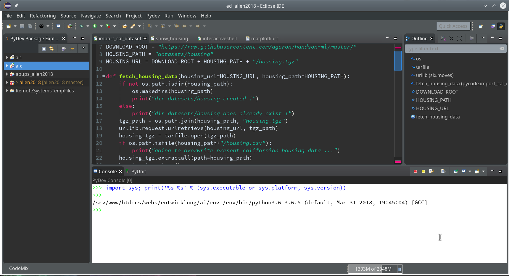 Eclipse, PyDev, virtualenv and graphical output of matplotlib on KDE