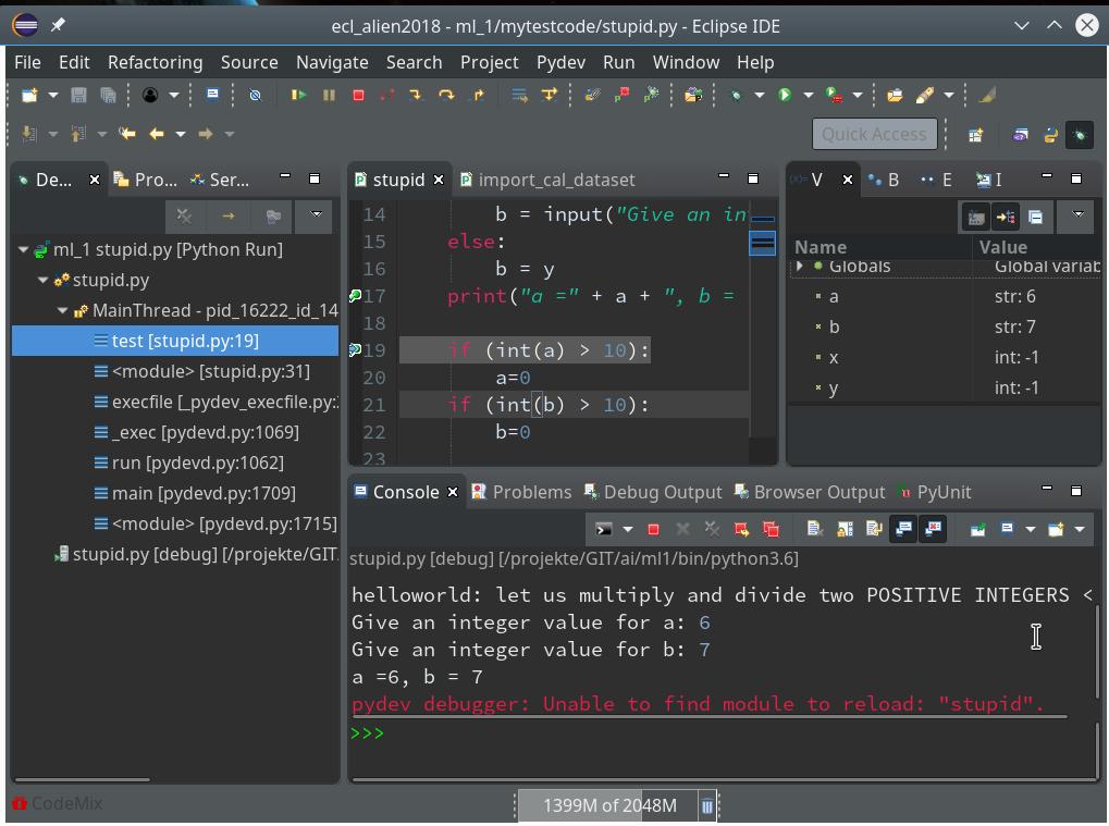 Eclipse PyDev and Python   Linux-Blog – Dr  Mönchmeyer / anracon
