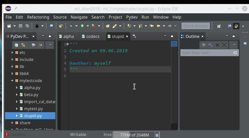 Eclipse PyDev and Python | Linux-Blog – Dr  Mönchmeyer